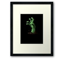 Zombie Grasp Pixels Framed Print
