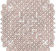 Celtic Knotwork - Cross and Hearts by dendryad