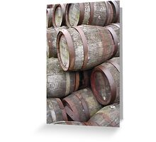 Aging Casks Greeting Card