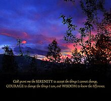 Serenity Prayer Spring Sunrise 2 by serenitygifts
