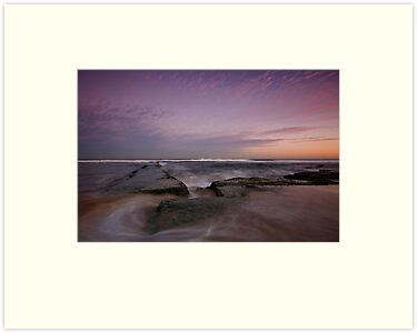Bar Beach at Dusk 3 by Mark Snelson