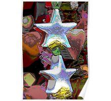 Christmas decorative star Poster