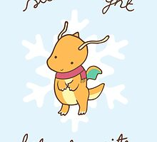 Dragonite Christmas by Steph Hodges