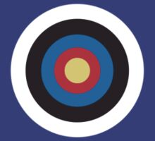 BULLS EYE, Right on target, small, on Blue by TOM HILL - Designer