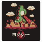 Yoshzilla (STICKER) by mikehandyart