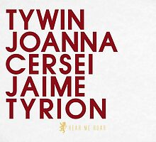 House Lannister 1 Typography series II by P3RF3KT