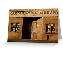 Clunes Circulating Library Greeting Card