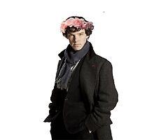 sherlock with flower crown by sherlokian