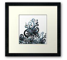 Octoworm (blue version) Framed Print
