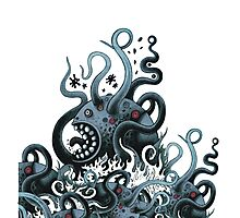 Octoworm (blue version) Photographic Print