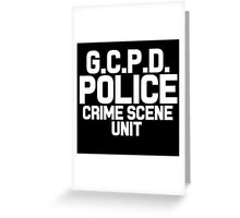 Gotham City Police Department - Batman Greeting Card