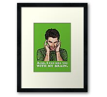 Shawn must use this power for good... Framed Print