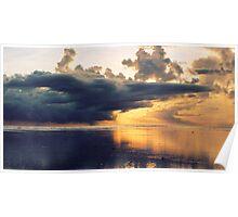 Stormy Sunset - Fiji Poster