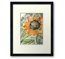 Rustic Sunflower Framed Print