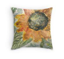 Rustic Sunflower Throw Pillow