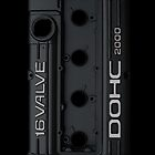 Mitsubishi Valve Cover 4G63 Black (iPhone) by Hector Flores