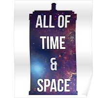 "Doctor Who TARDIS - ""All of time and space"" Poster"