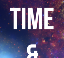 """Doctor Who TARDIS - """"All of time and space"""" Sticker"""