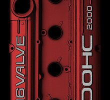 Mitsubishi Valve Cover 4G63 Red (Samsung Case) by Hector Flores