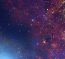 Doctor Who TARDIS - Galaxy Background Sticker