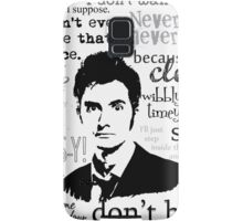 Tenth Doctor - on white Samsung Galaxy Case/Skin