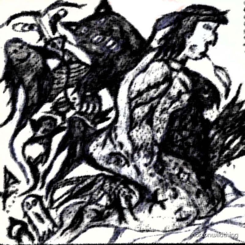 wildthing  jbg,  in black, ink. by hortonwildthing