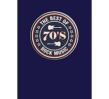 The Best Of  70's Rock Music Photographic Print