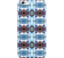 Blue And Purple Plaid Pattern iPhone Case/Skin