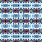 Blue And Purple Plaid Pattern by Phil Perkins