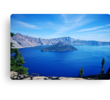 Color view of Crater Lake Oregon Canvas Print