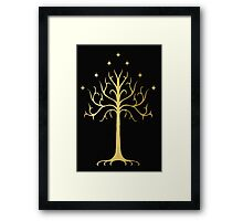 golden tree of Gondor Framed Print