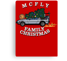 McFly Family Christmas Canvas Print