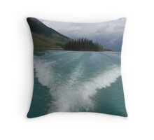 Fish Tail Wake Throw Pillow