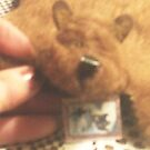 brown bear rug in miniature by francelle  huffman