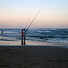 Coolum Beach fishing by archenar76