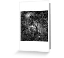 When The Stars Are Right - M78 in Orion (black & white version) Greeting Card