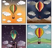 Balloon Aeronautics Set by DipWeb