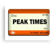 Peak Times Train Ticket Design Canvas Print