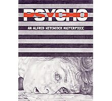 PSYCHO hand drawn movie poster in pencil Photographic Print