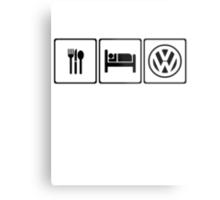 EAT SLEEP VW Metal Print