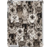 just cats sepia iPad Case/Skin