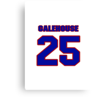 National baseball player Denny Galehouse jersey 25 Canvas Print