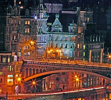 """Olde World Edinburgh City"" by Chris Clark"