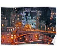 """Olde World Edinburgh City"" Poster"