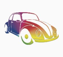 VW Bug hippie tie dye by thatstickerguy