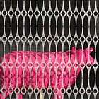 Pink Paris sheep by Carol Dumousseau