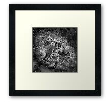 When The Stars Are Right - The Crab Nebula in Taurus (black & white version) Framed Print