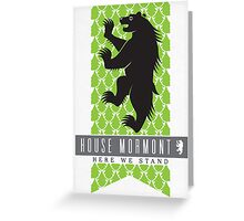 House Mormont Sigil Greeting Card
