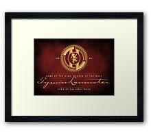 Tywin Lannister Monogram Logo Framed Print