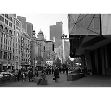 Flinders Street : Black and White Melbourne Photographic Print